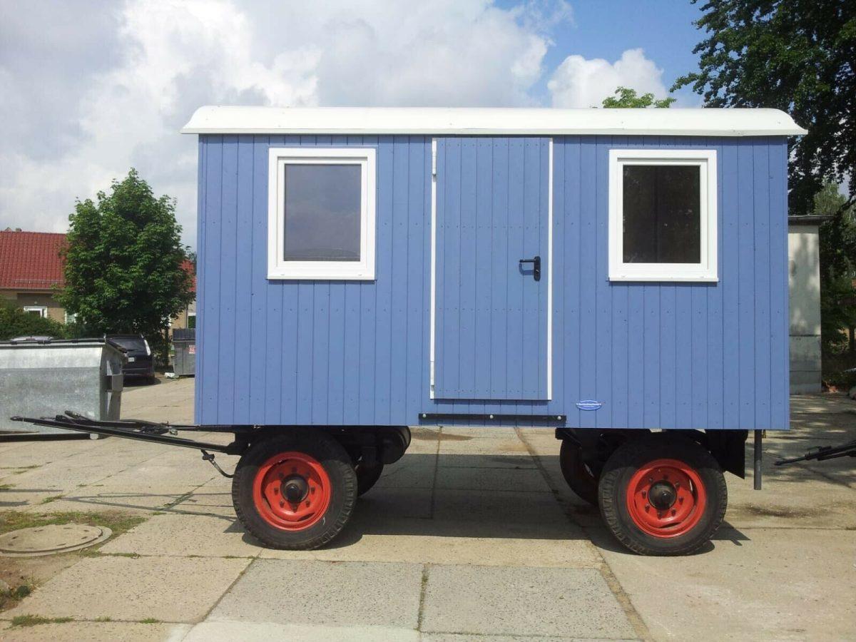Bauwagen ,Tinyhouse, Gartenhaus in Blau
