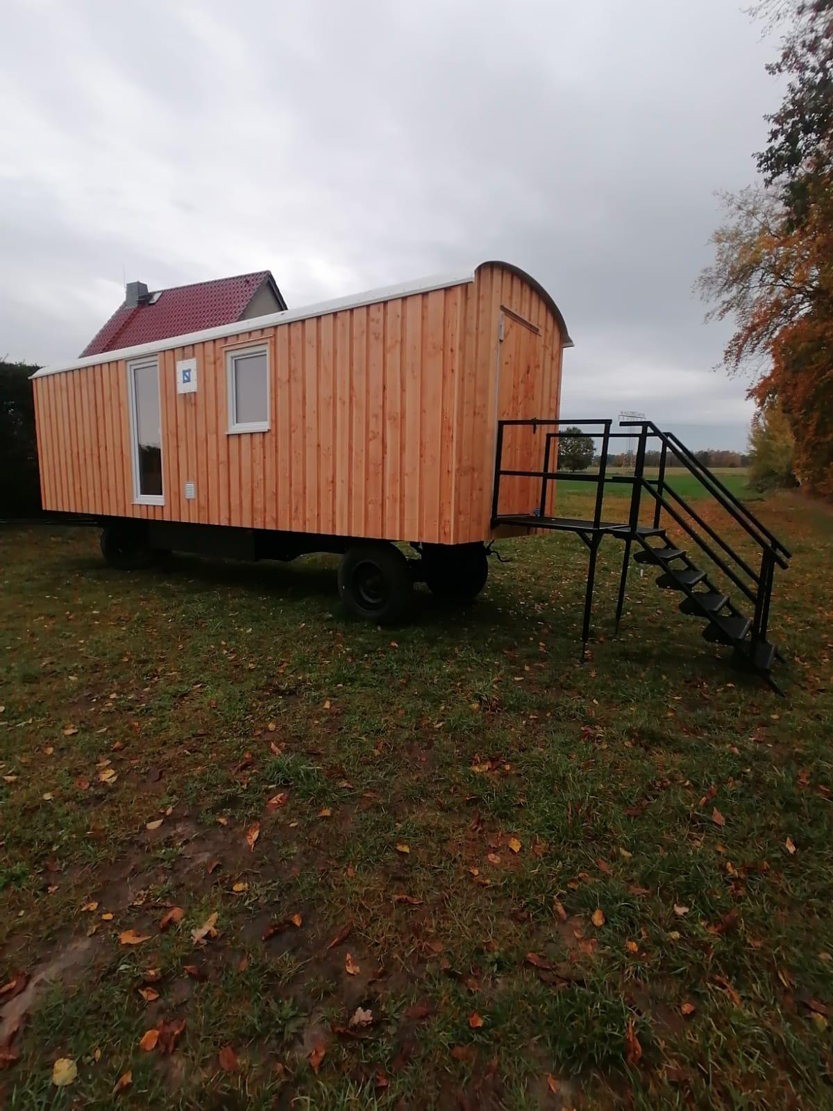 Bauwagen, Tinyhouse 8m Lärche
