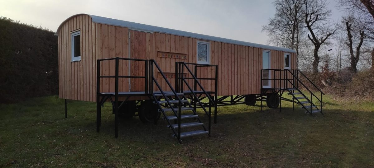 Bauwagen, Tinyhose – 12 m x 3 m Lärche