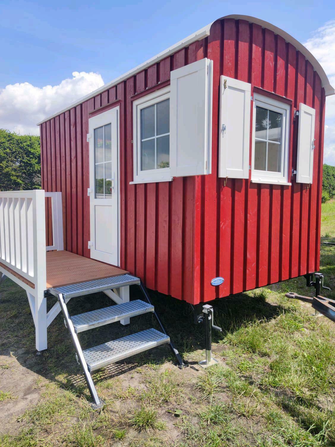 4,00m Bauwagen aus Lärchenholz als Tinyhouse